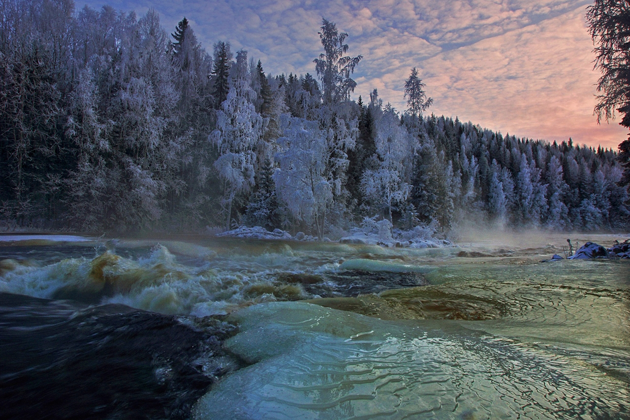 The rapids of the river Janisjoki. South Karelia 14