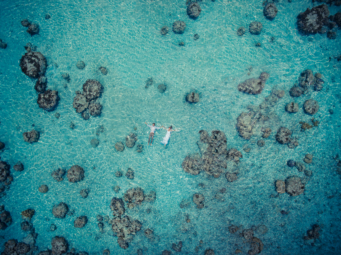 The striking beauty of wedding photos taken with a drone 09