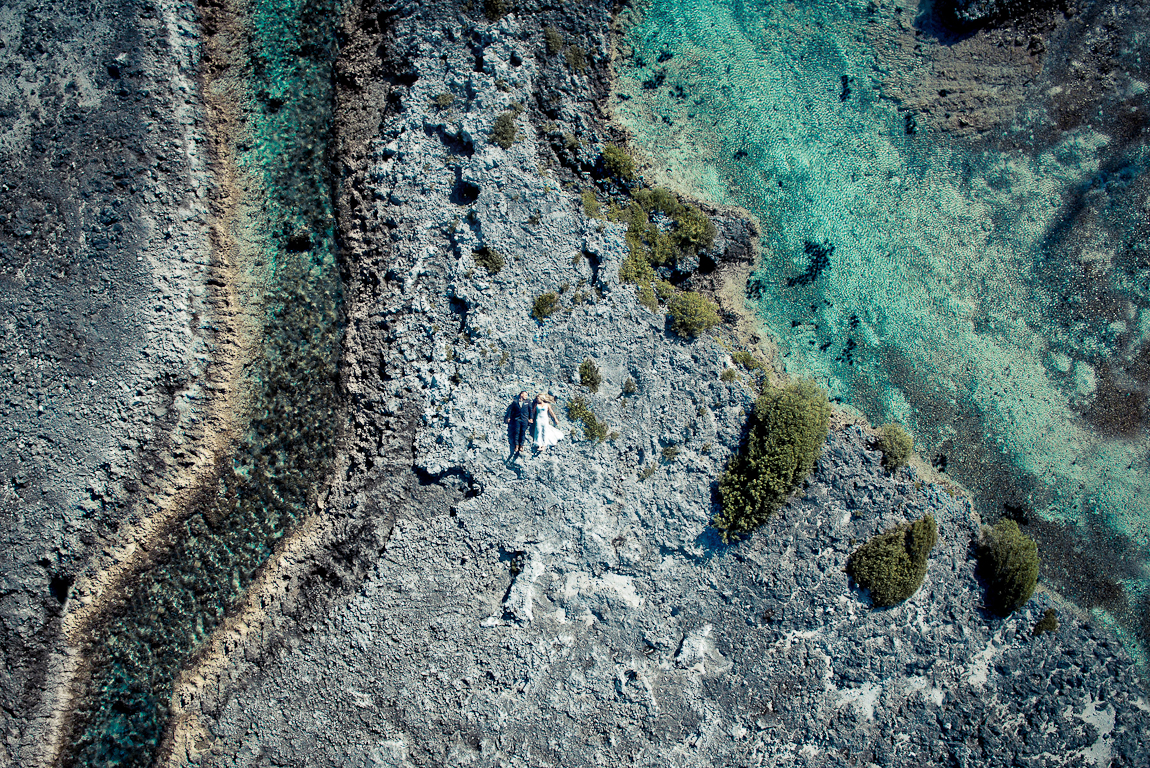 The striking beauty of wedding photos taken with a drone 10