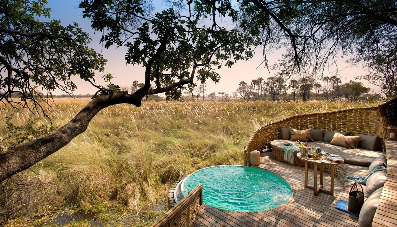 This hotel in Botswana -  unity with nature 01