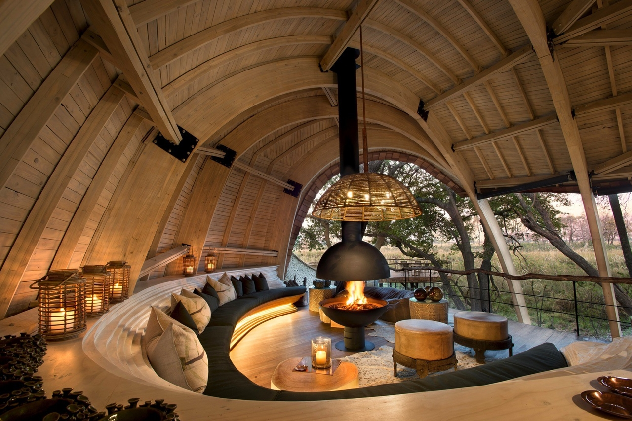 This hotel in Botswana -  unity with nature 02