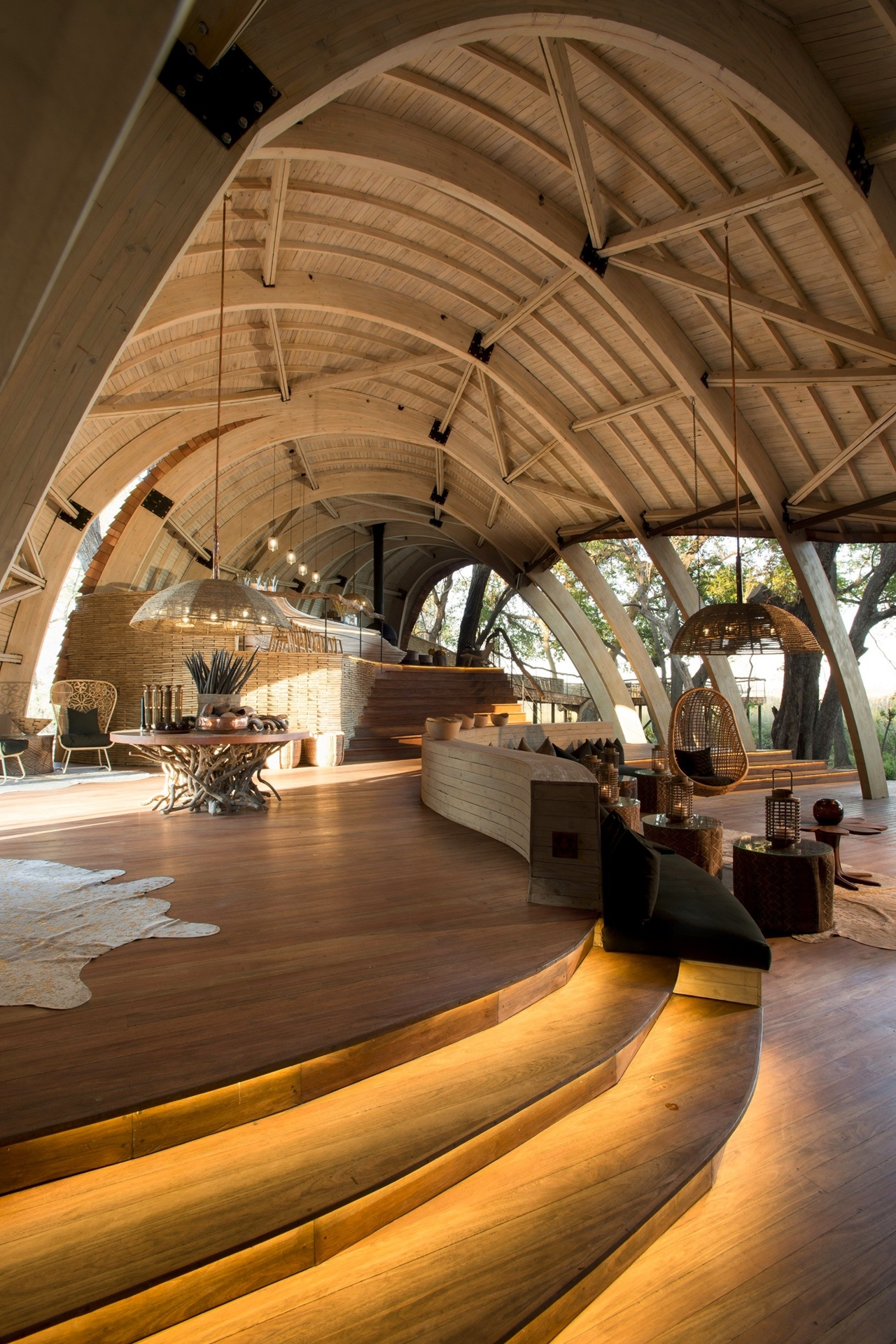 This hotel in Botswana -  unity with nature 06