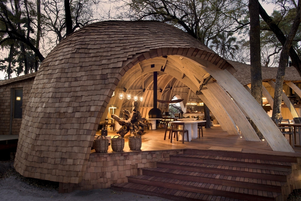 This hotel in Botswana -  unity with nature 10
