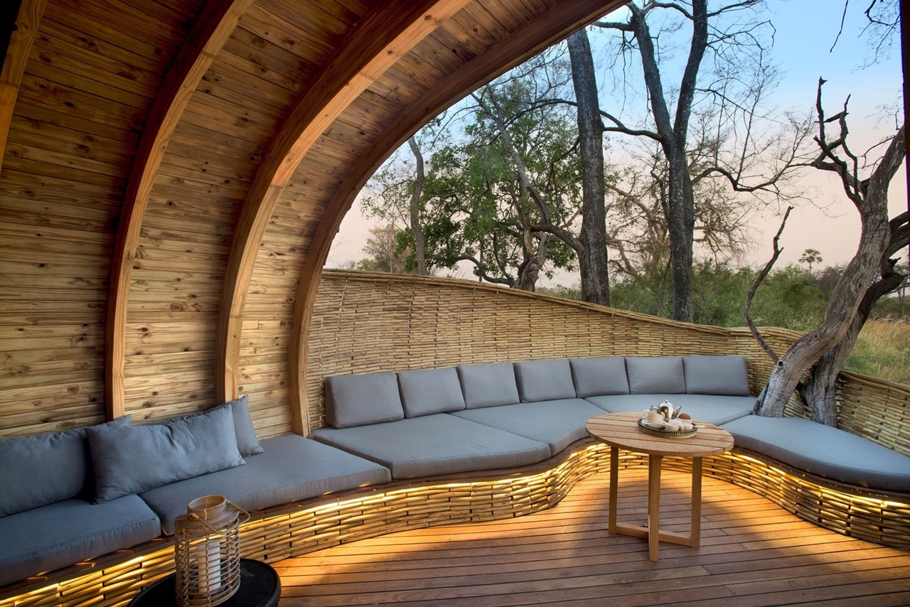 This hotel in Botswana -  unity with nature 11