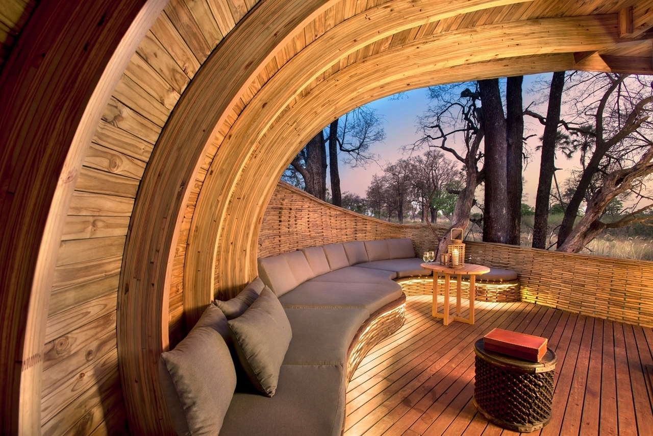 This hotel in Botswana -  unity with nature 12