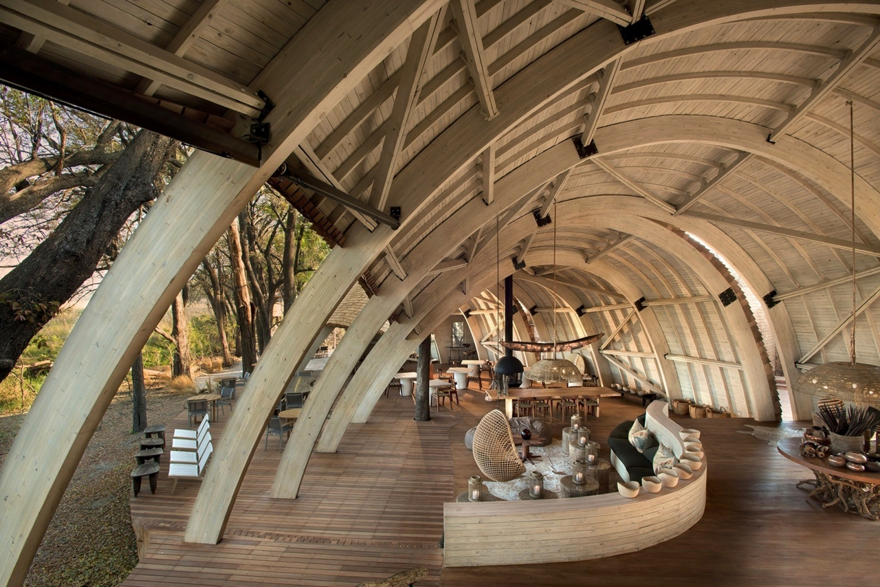 This hotel in Botswana -  unity with nature 16