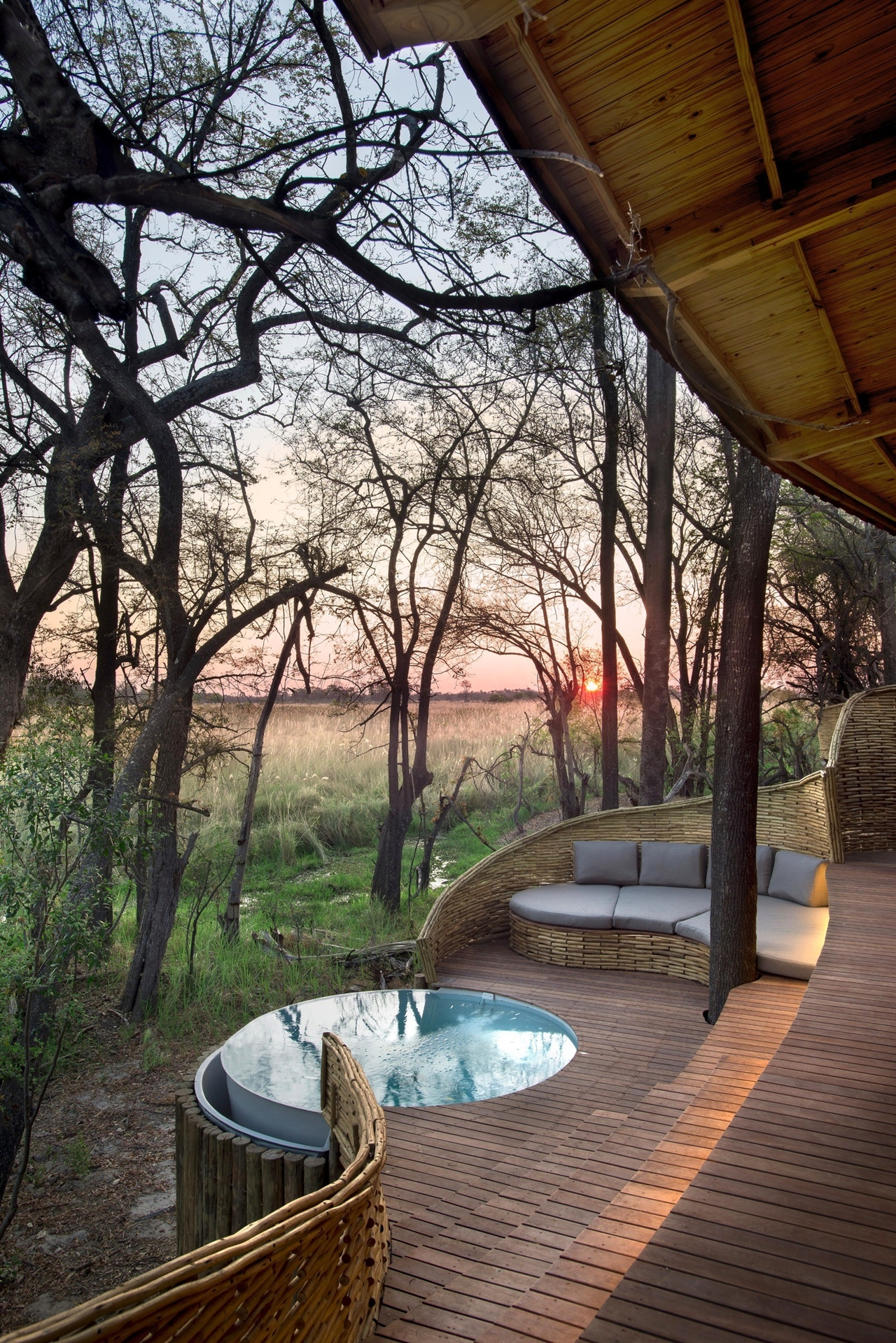 This hotel in Botswana -  unity with nature 27