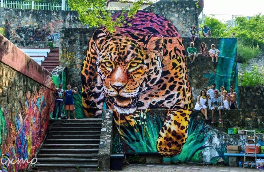 Three-dimensional street art from around the world, the reality of which affects 01