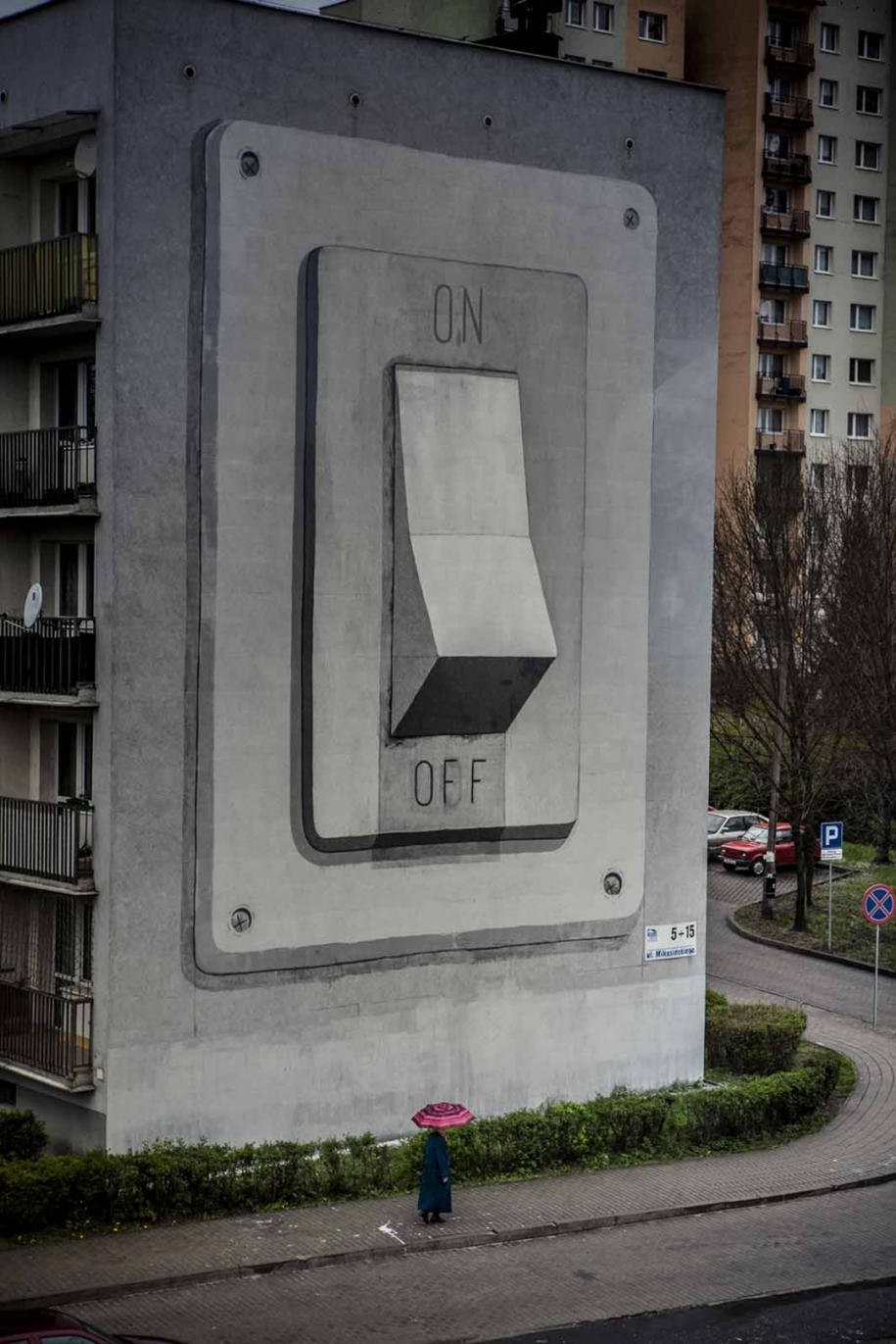 Three-dimensional street art from around the world, the reality of which affects 03