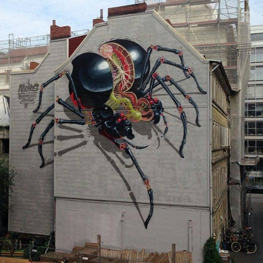 Three-dimensional street art from around the world, the reality of which affects 04
