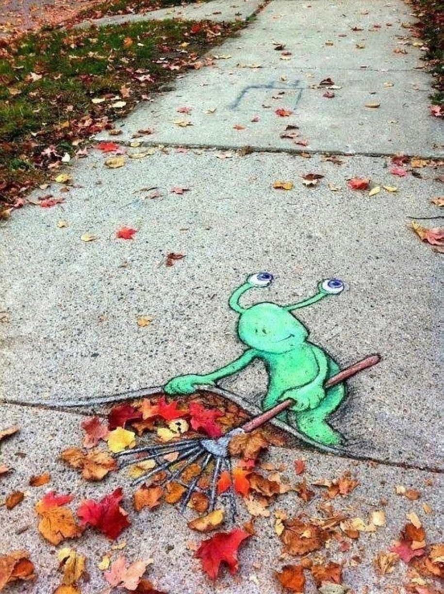Three-dimensional street art from around the world, the reality of which affects 05