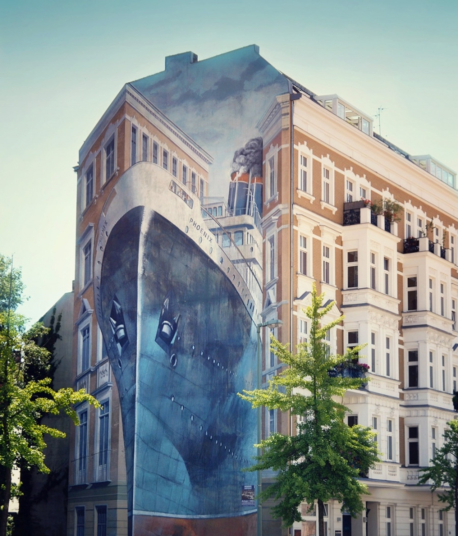 Three-dimensional street art from around the world, the reality of which affects 08