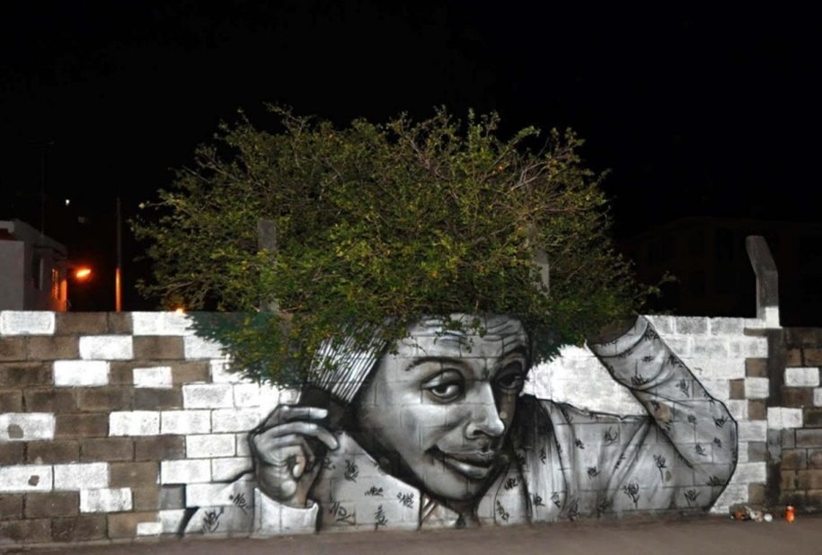 Three-dimensional street art from around the world, the reality of which affects 11