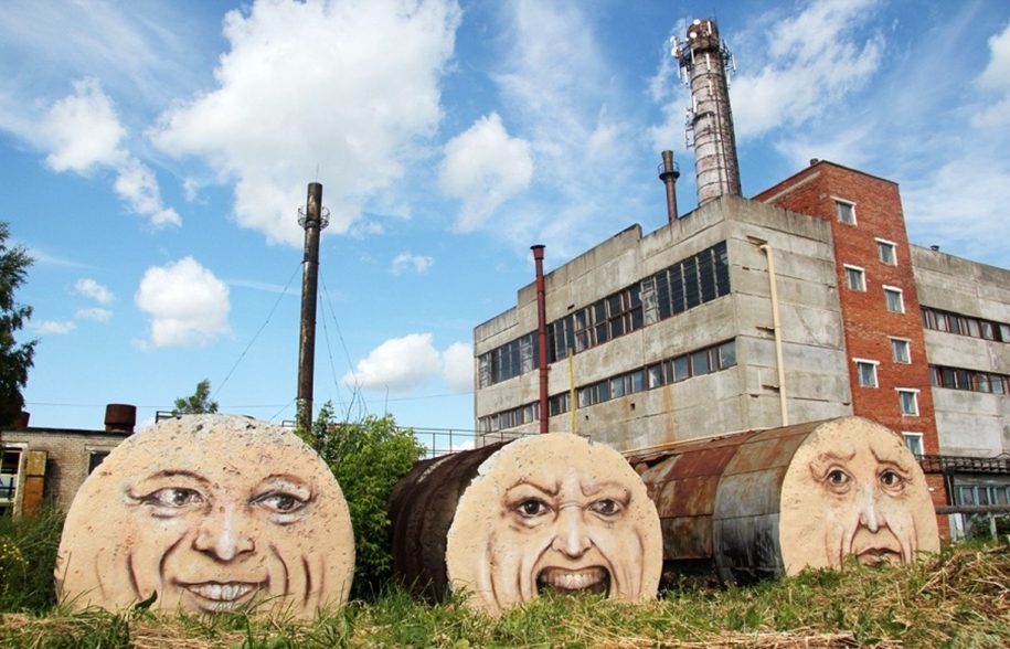 Three-dimensional street art from around the world, the reality of which affects 13