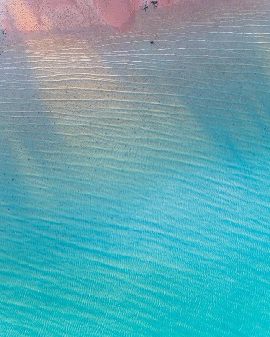 Turquoise water and abstract patterns of Australia from the height of bird flight 02