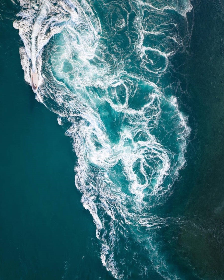 Turquoise water and abstract patterns of Australia from the height of bird flight 08