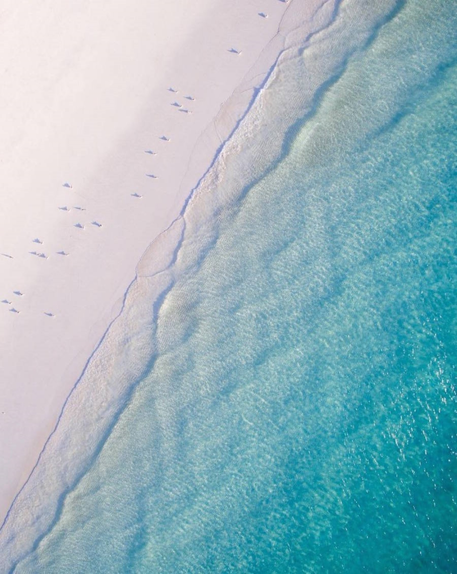 Turquoise water and abstract patterns of Australia from the height of bird flight 09