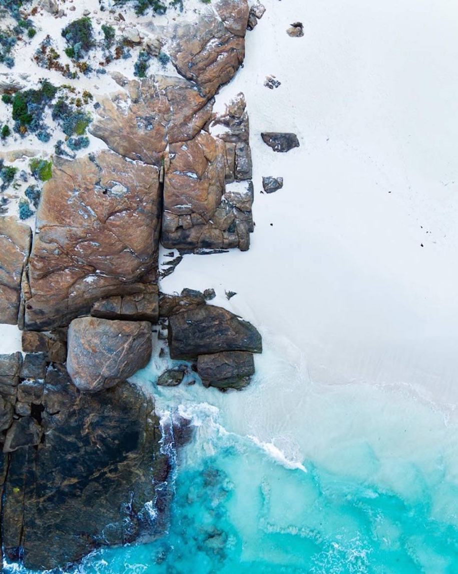 Turquoise water and abstract patterns of Australia from the height of bird flight 10