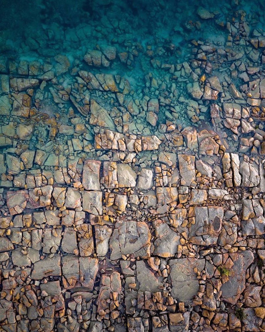 Turquoise water and abstract patterns of Australia from the height of bird flight 12