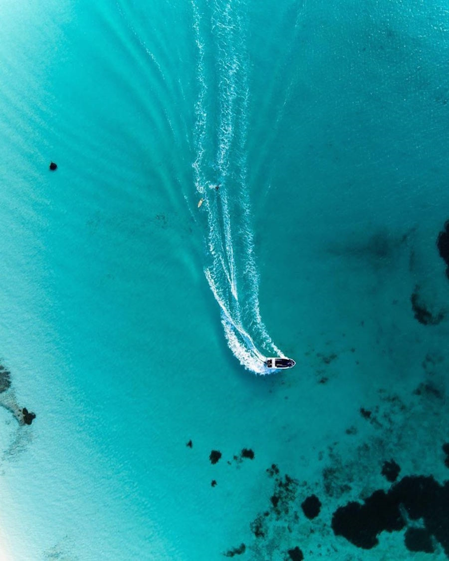 Turquoise water and abstract patterns of Australia from the height of bird flight 15
