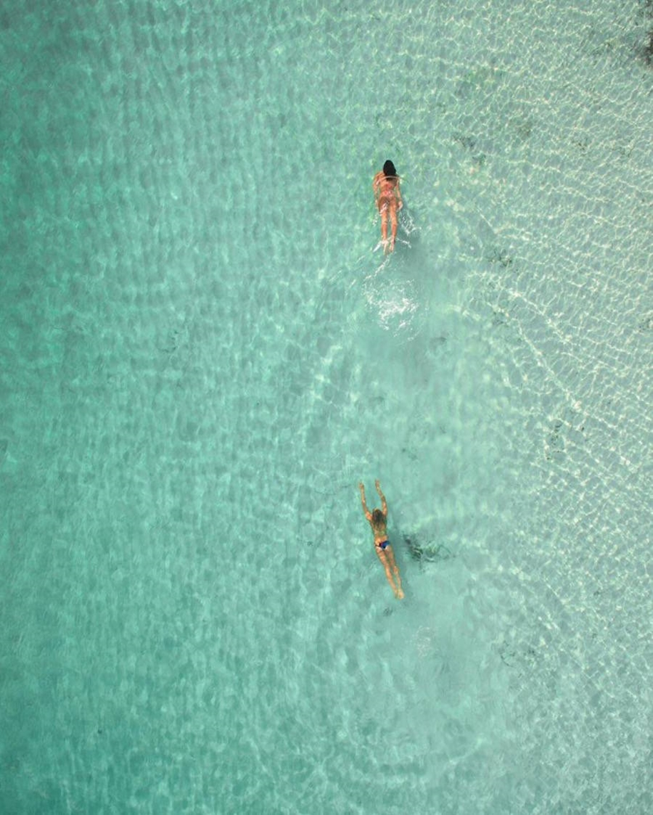 Turquoise water and abstract patterns of Australia from the height of bird flight 17