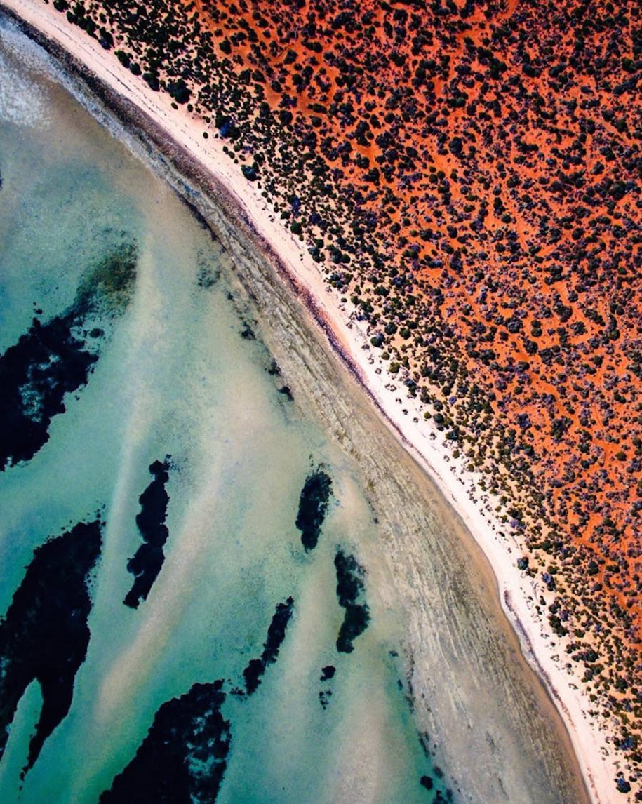 Turquoise water and abstract patterns of Australia from the height of bird flight 18