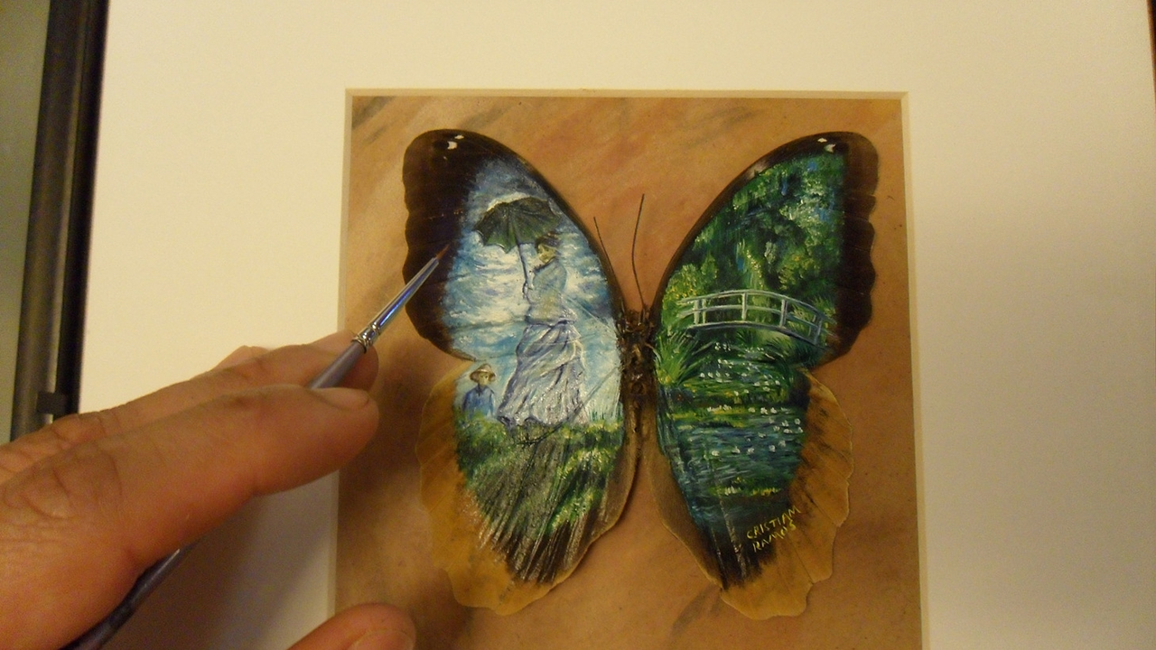 Amazing paintings on the wings of butterflies 01
