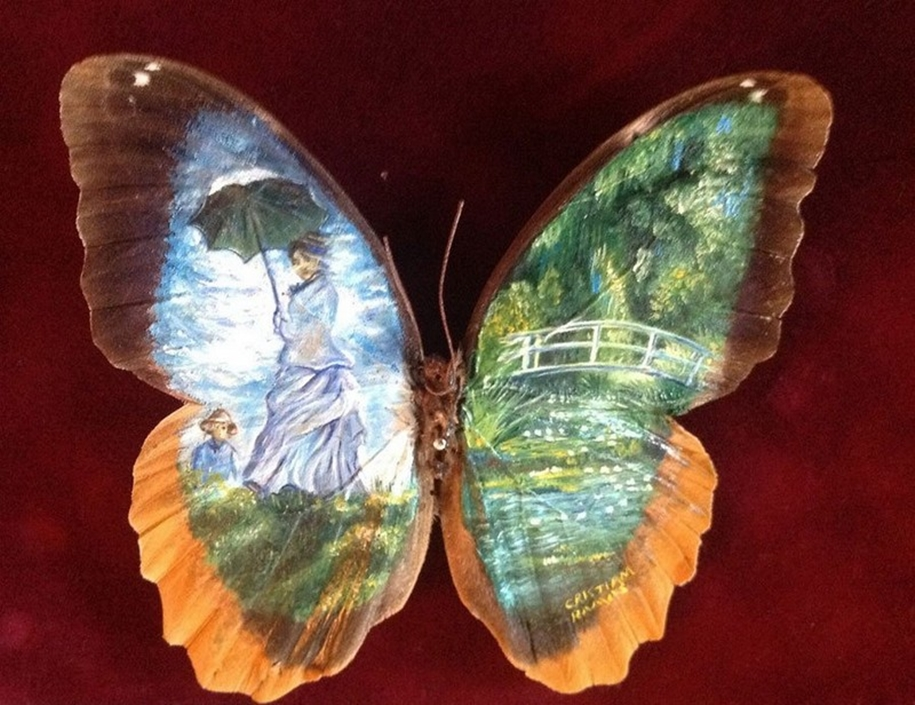 Amazing paintings on the wings of butterflies 03