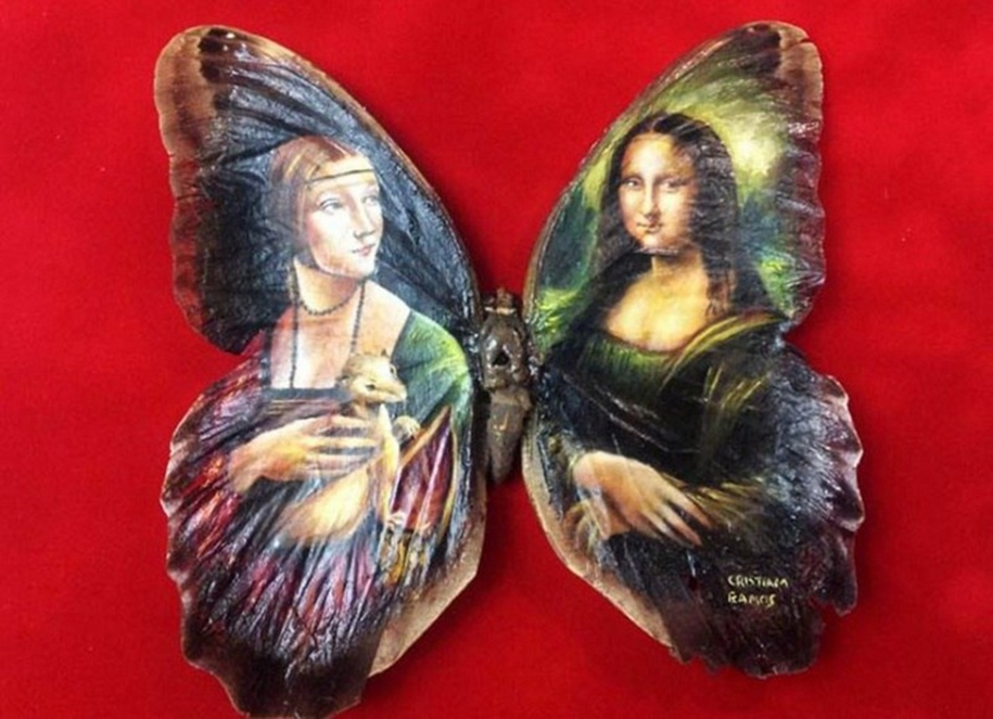 Amazing paintings on the wings of butterflies 04