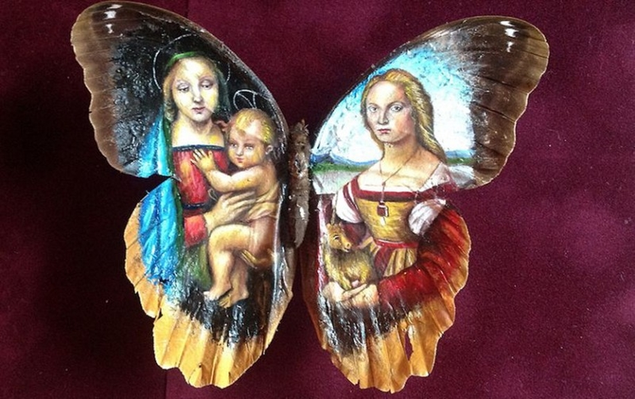 Amazing paintings on the wings of butterflies 05