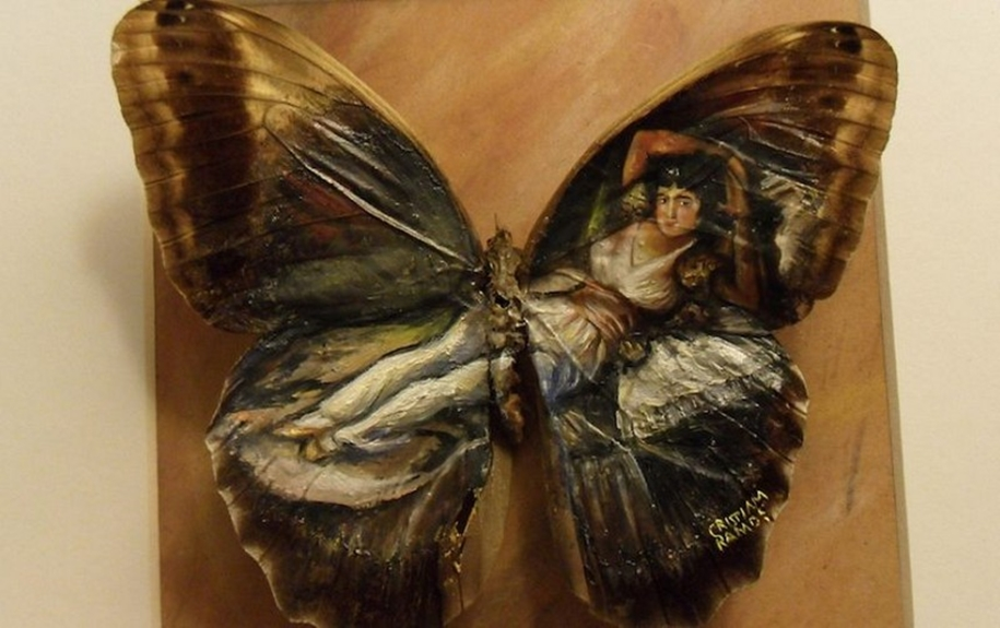 Amazing paintings on the wings of butterflies 11