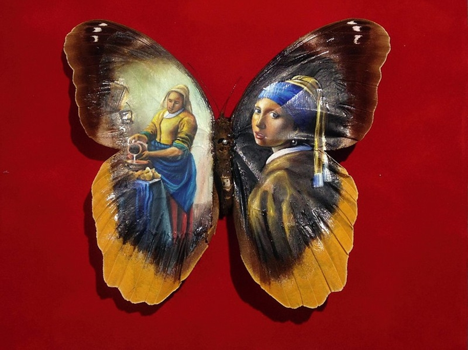 Amazing paintings on the wings of butterflies 13