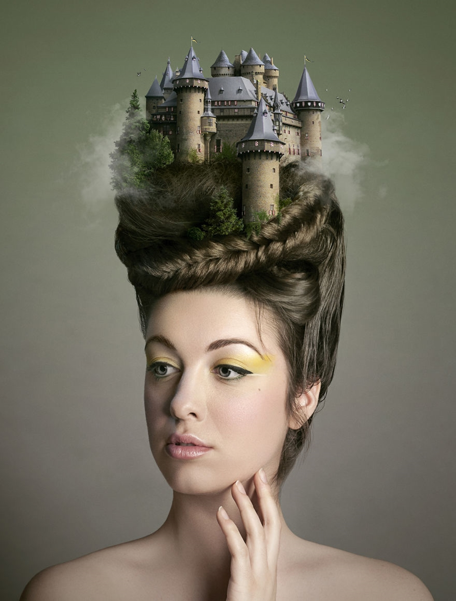 Dreams and thoughts of people in surreal portraits 04