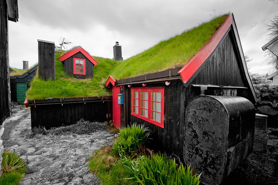 Fabulous beauty Scandinavian homes with green roofs 06