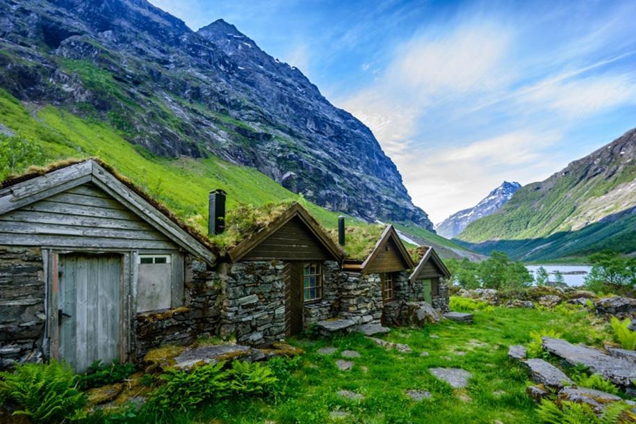 Fabulous beauty Scandinavian homes with green roofs 12