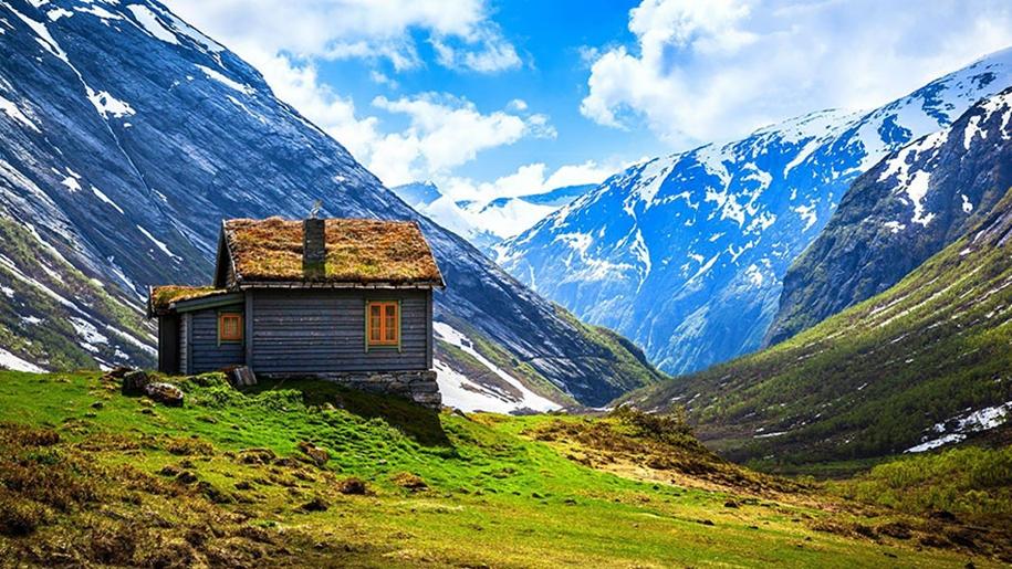 Fabulous beauty Scandinavian homes with green roofs 13