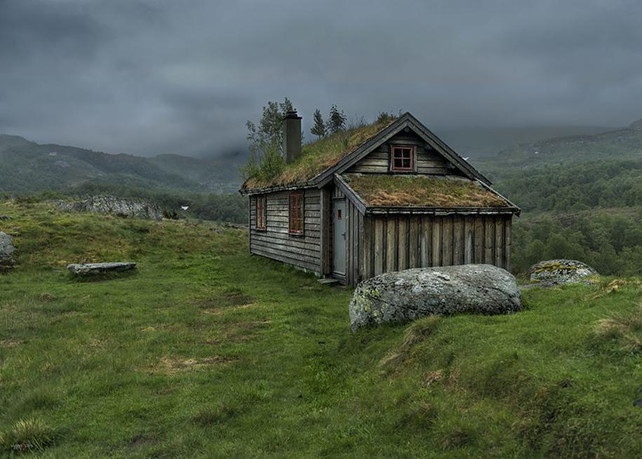 Fabulous beauty Scandinavian homes with green roofs 15