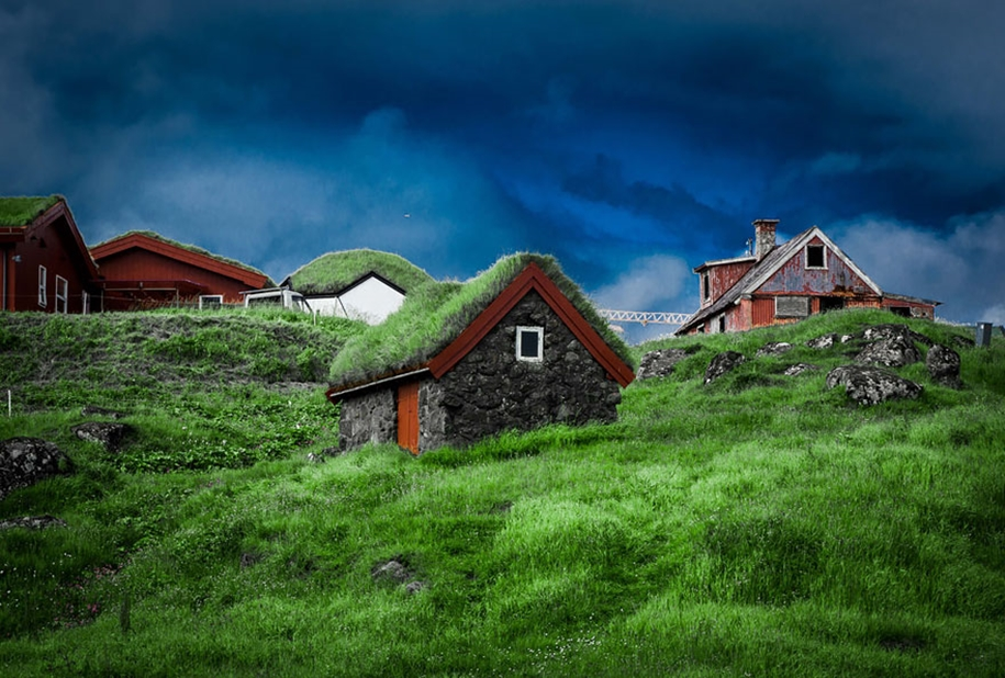 Fabulous beauty Scandinavian homes with green roofs 20