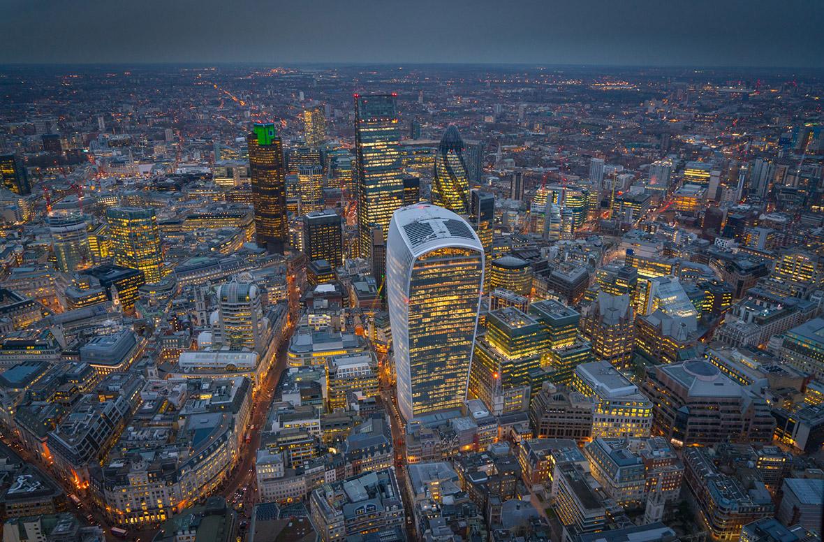 Лондон с вертолета