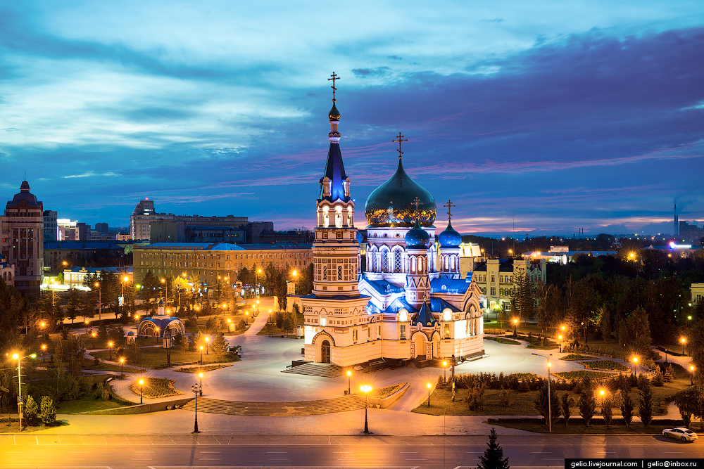 Omsk 300 years. The views of the city from the height 01