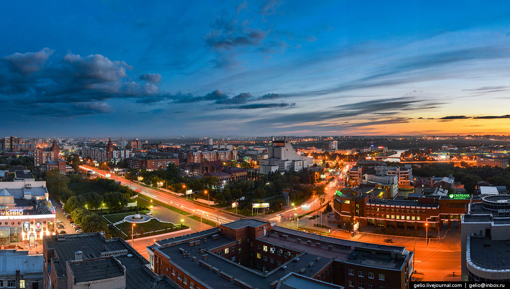 Omsk 300 years. The views of the city from the height 02