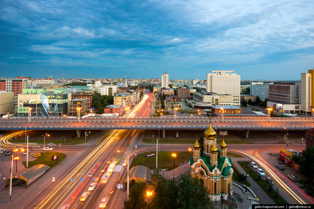Omsk 300 years. The views of the city from the height 08