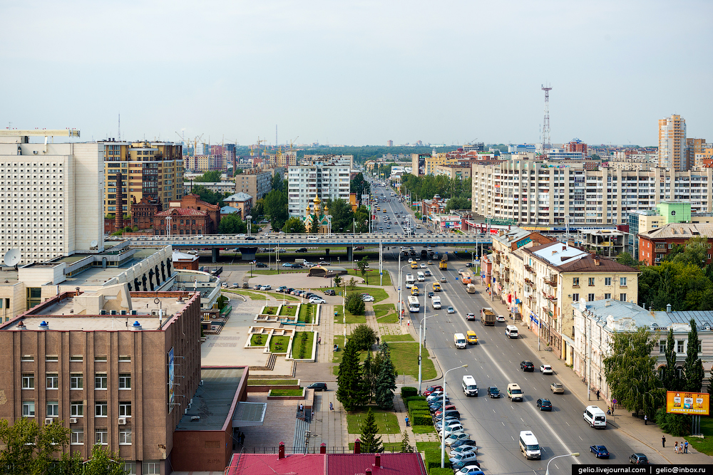 Omsk 300 years. The views of the city from the height 10