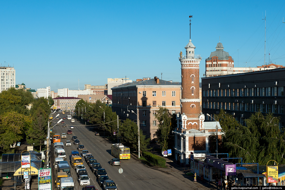 Omsk 300 years. The views of the city from the height 18