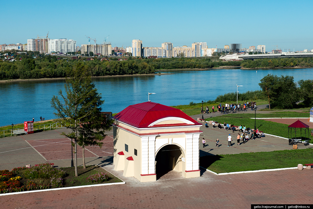 Omsk 300 years. The views of the city from the height 20