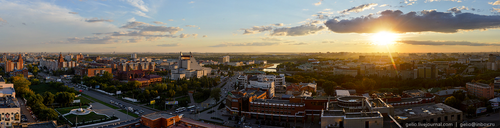 Omsk 300 years. The views of the city from the height 26