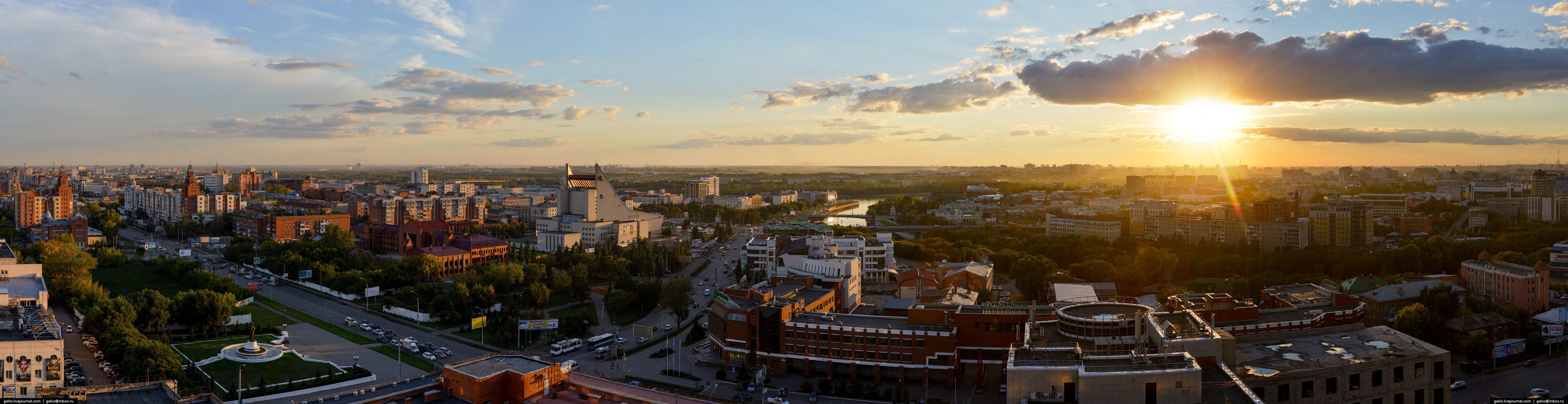 Omsk is 300 years old. Views of the city from a height