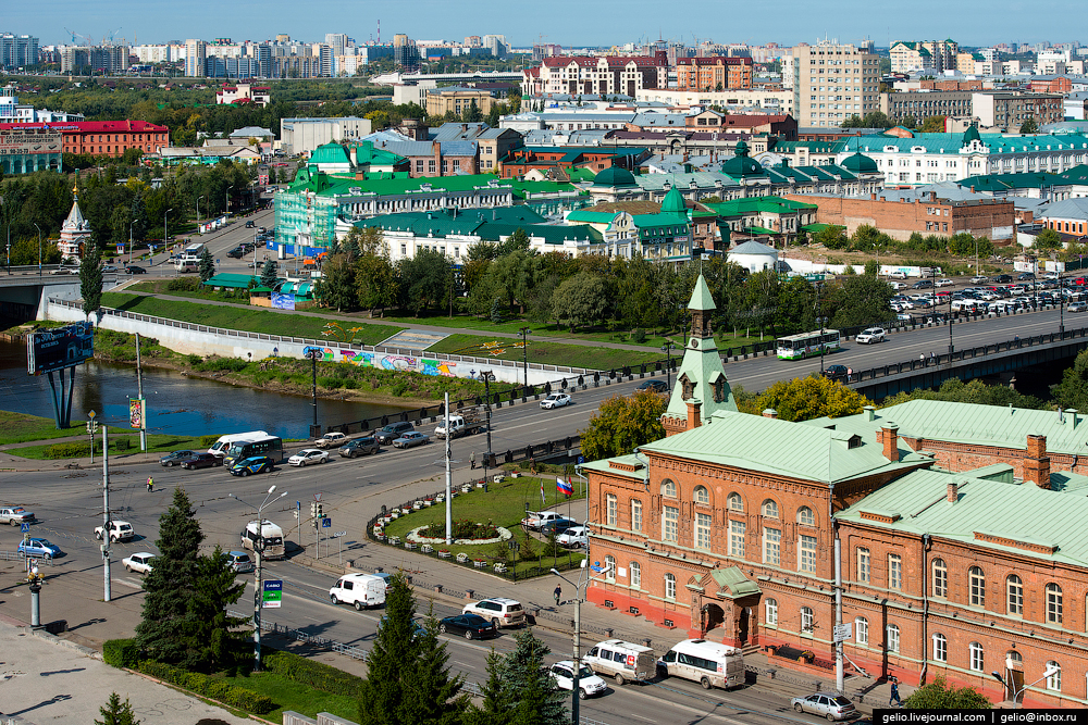 Omsk 300 years. The views of the city from the height 27