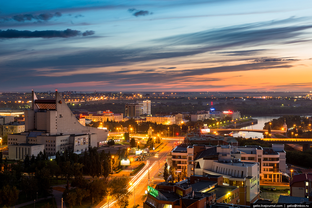 Omsk 300 years. The views of the city from the height 30