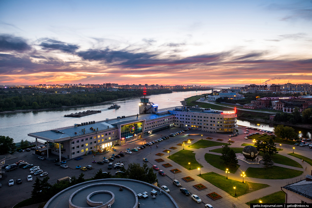 Omsk 300 years. The views of the city from the height 32